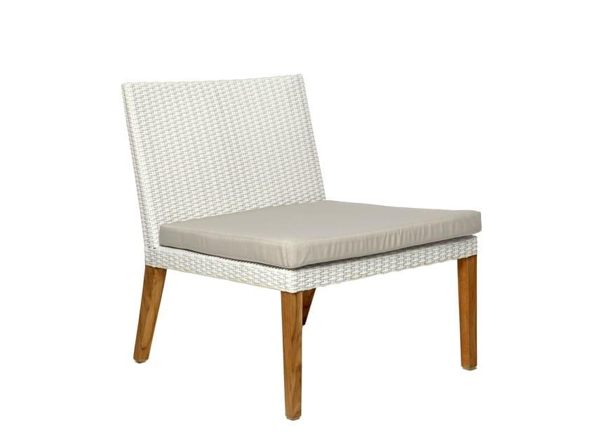 Synthetic fibre garden armchair FIJI | Garden armchair - Il Giardino di Legno