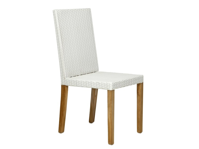 Synthetic fibre garden chair with high back FIJI | Garden chair with high back - Il Giardino di Legno
