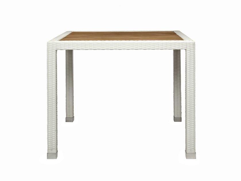 Square synthetic fibre garden table FIJI | Square garden table by Il Giardino di Legno