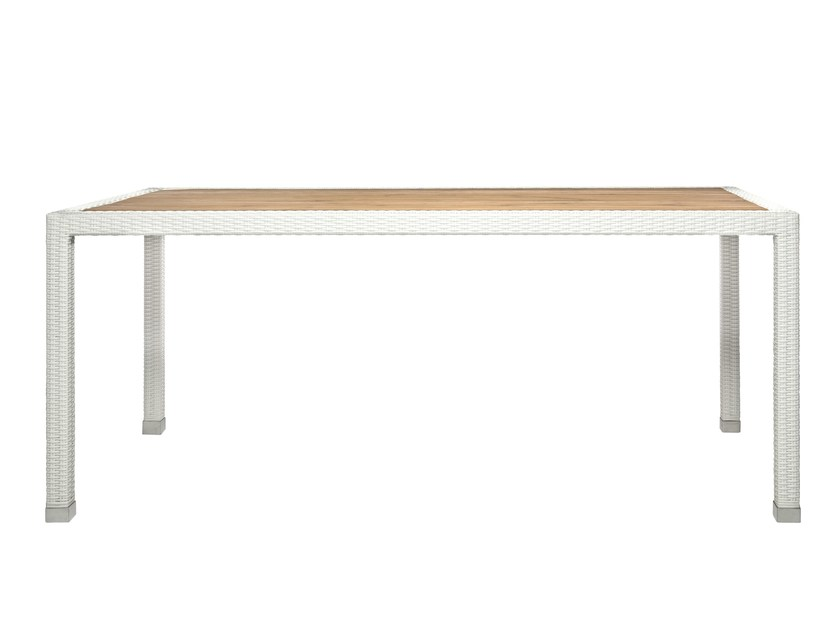 Rectangular synthetic fibre garden table FIJI | Rectangular garden table by Il Giardino di Legno
