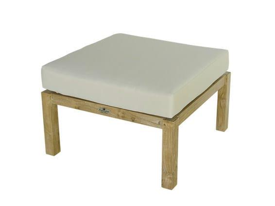 Square wooden garden footstool VENEZIA | Garden pouf - Il Giardino di Legno