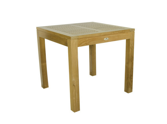 Square wooden garden table VENEZIA | Square garden table by Il Giardino di Legno