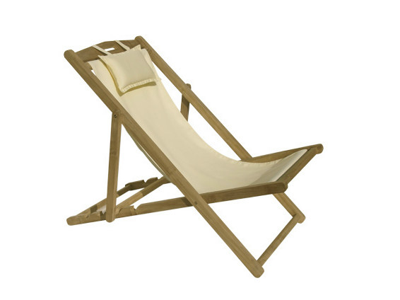 Folding teak deck chair VENEZIA | Deck chair by Il Giardino di Legno