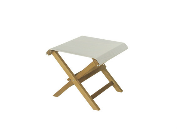 Square wooden garden footstool VENEZIA | Garden footstool - Il Giardino di Legno