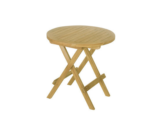 folding round wooden garden side table venezia folding garden side