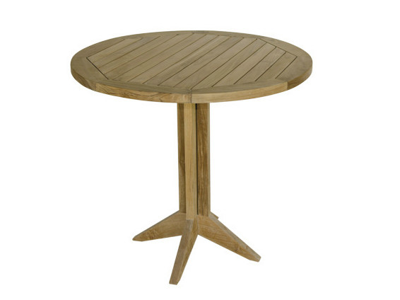 Round wooden garden table MACAO | Garden table by Il Giardino di Legno