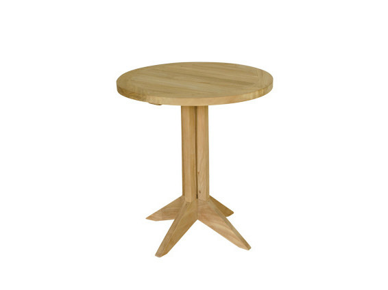 Round wooden garden side table MACAO | Garden side table - Il Giardino di Legno