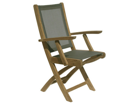 Folding Batyline® garden chair with armrests MACAO | Garden chair with armrests - Il Giardino di Legno
