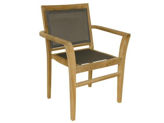 Stackable Batyline® garden armchair with armrests MACAO | Garden armchair - Il Giardino di Legno