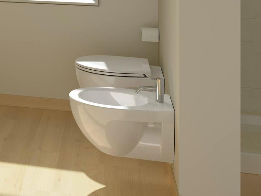 Wall-hung ceramic toilet NEW LIGHT | Wall-hung toilet - CERAMICA CATALANO