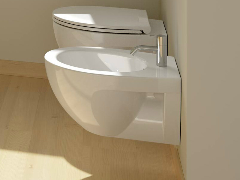 Wall-hung ceramic bidet NEW LIGHT | Wall-hung bidet - CERAMICA CATALANO