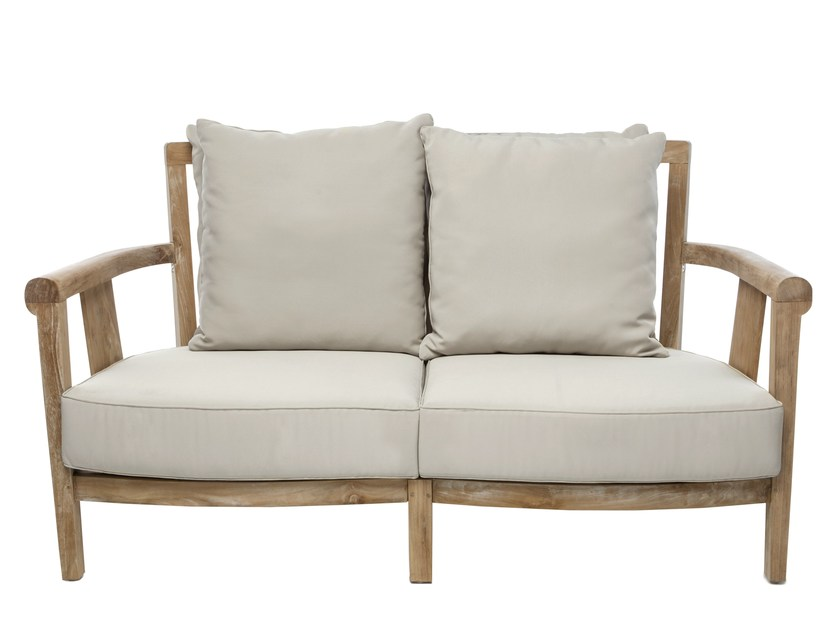 2 seater wooden garden sofa SAINT LAURENT | Garden sofa - Il Giardino di Legno