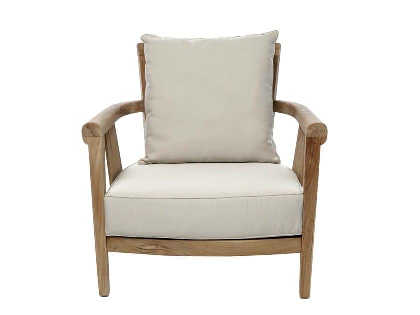 Wooden garden armchair with armrests SAINT LAURENT   Garden armchair - Il Giardino di Legno