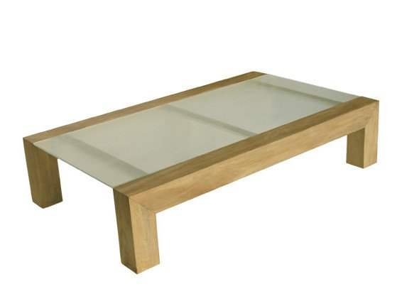 Low Rectangular garden side table SAINT RAPHAEL | Low garden side table - Il Giardino di Legno