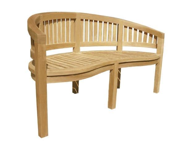 Wooden garden bench WASHINGTON | Garden bench - Il Giardino di Legno