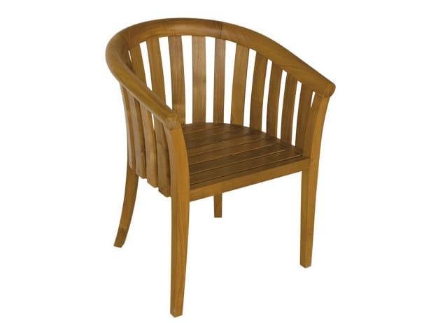 Teak garden armchair with armrests WASHINGTON | Garden armchair - Il Giardino di Legno