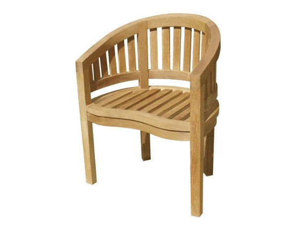Wooden garden armchair with armrests WASHINGTON | Garden armchair - Il Giardino di Legno