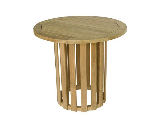 Round wooden garden table WASHINGTON | Garden table - Il Giardino di Legno