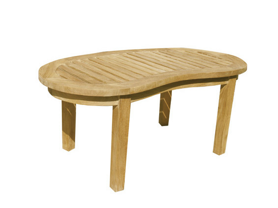 Oval wooden garden side table WASHINGTON | Garden side table - Il Giardino di Legno