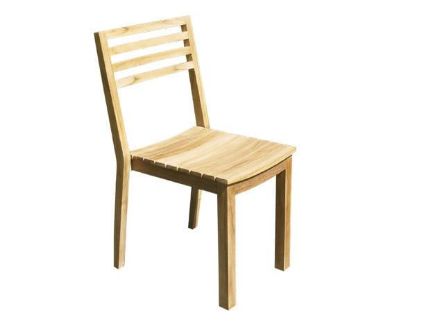 Wooden garden chair BISTROT | Garden chair by Il Giardino di Legno