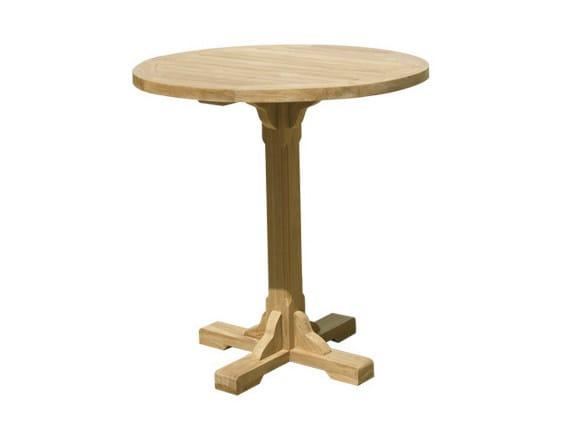 Round wooden garden table BISTROT | Round garden table - Il Giardino di Legno
