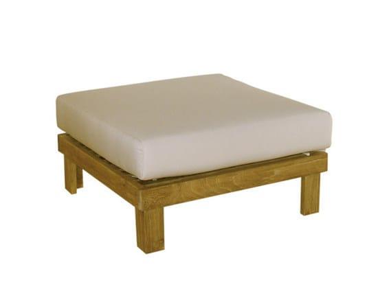 Square wooden garden footstool SAINT TROPEZ | Garden footstool - Il Giardino di Legno