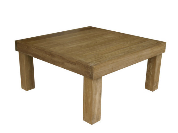 Low Square wooden garden side table SAINT TROPEZ | Square garden side table - Il Giardino di Legno