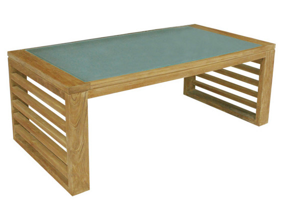 Low Rectangular garden side table SAINT TROPEZ | Rectangular garden side table - Il Giardino di Legno