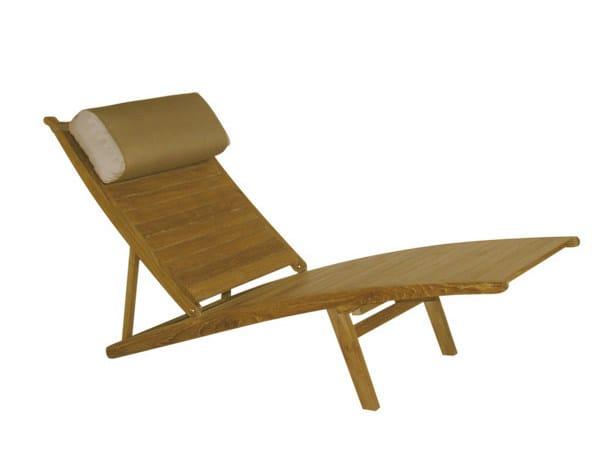 Recliner teak deck chair ELEGANCE | Deck chair by Il Giardino di Legno
