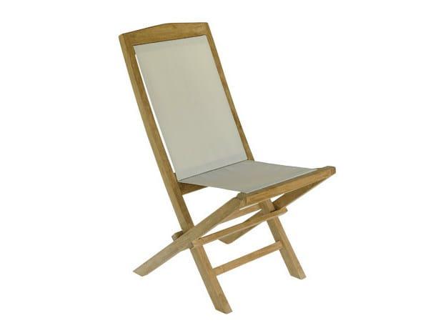 Folding wooden garden chair TENNIS   Folding garden chair - Il Giardino di Legno