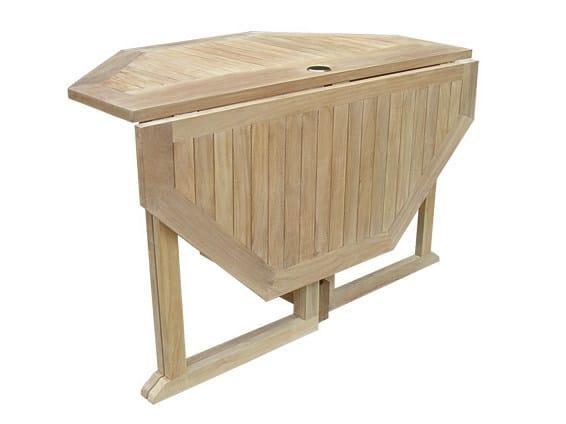 Folding wooden garden table TELEMACO | Garden table - Il Giardino di Legno
