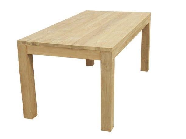 Rectangular wooden garden table RATIO | Garden table - Il Giardino di Legno
