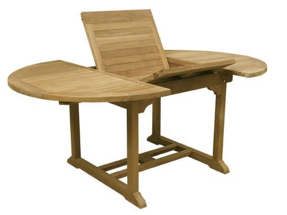 Extending Oval wooden garden table ROMA - Il Giardino di Legno
