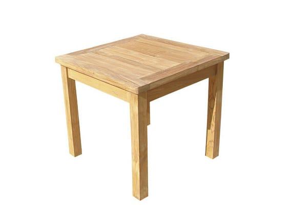 Square wooden garden table SANUR by Il Giardino di Legno