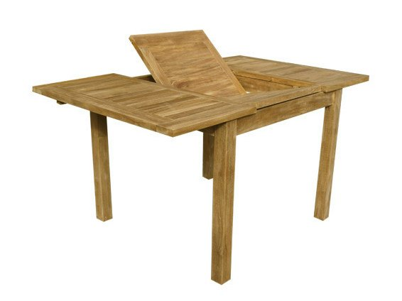 Extending Rectangular wooden garden table GIASONE - Il Giardino di Legno