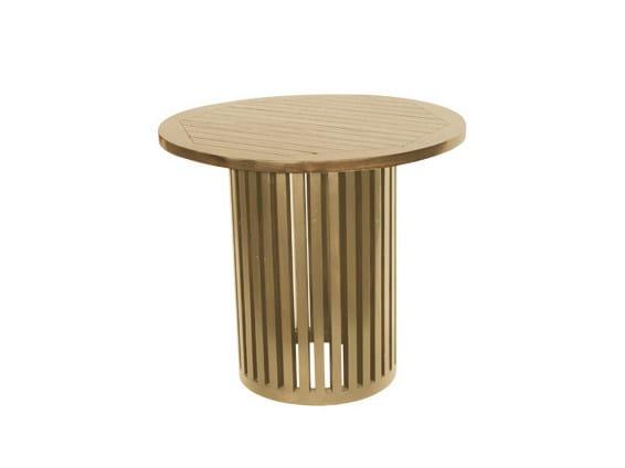 Round wooden garden table TENNIS | Round garden table - Il Giardino di Legno