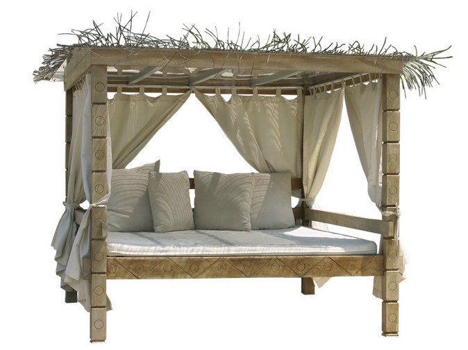 letto da giardino matrimoniale in legno a baldacchino. Black Bedroom Furniture Sets. Home Design Ideas
