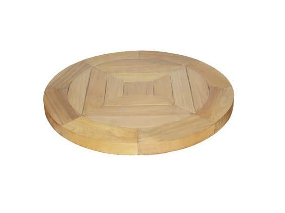 Wooden tray LAZY SUSAN | Teak tray by Il Giardino di Legno