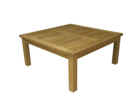 Low Square wooden garden side table TUBAN by Il Giardino di Legno