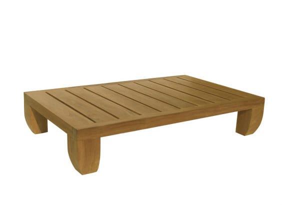 Low Rectangular wooden garden side table FUGU | Garden side table - Il Giardino di Legno