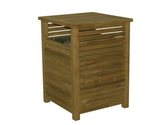 Outdoor wooden waste bin TENNIS | Waste bin - Il Giardino di Legno