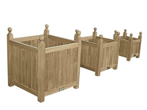 Wooden planter TRIS - Il Giardino di Legno