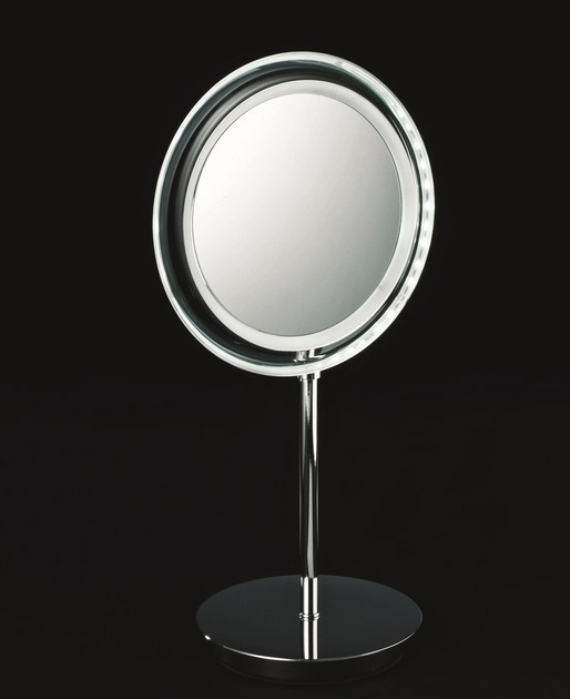 Countertop shaving mirror with integrated lighting BS 15 - DECOR WALTHER
