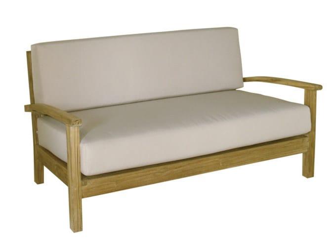 2 seater wooden garden sofa SAVANA | Garden sofa - Il Giardino di Legno