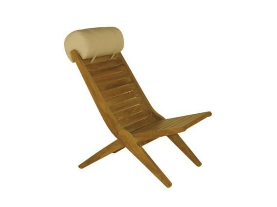 Folding teak deck chair SAVANA | Deck chair - Il Giardino di Legno