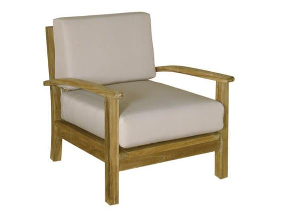 Wooden garden armchair with armrests SAVANA | Garden armchair - Il Giardino di Legno