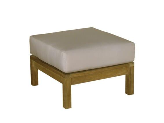 Square wooden garden footstool SAVANA | Garden footstool - Il Giardino di Legno