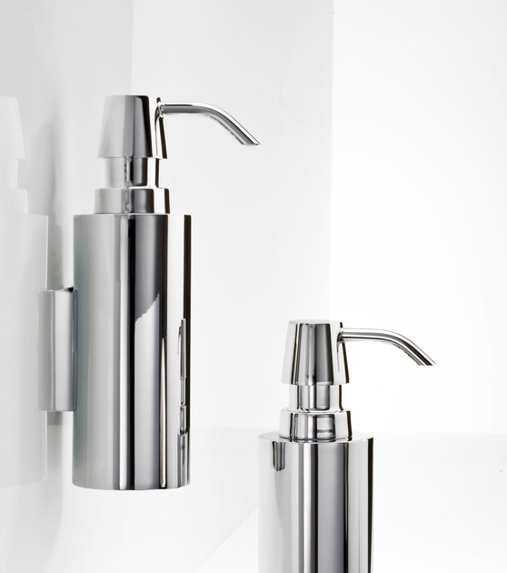 Wall-mounted chrome plated liquid soap dispenser DW 300 N - DECOR WALTHER