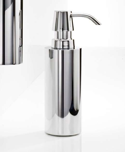 Chrome plated liquid soap dispenser DW 320 - DECOR WALTHER