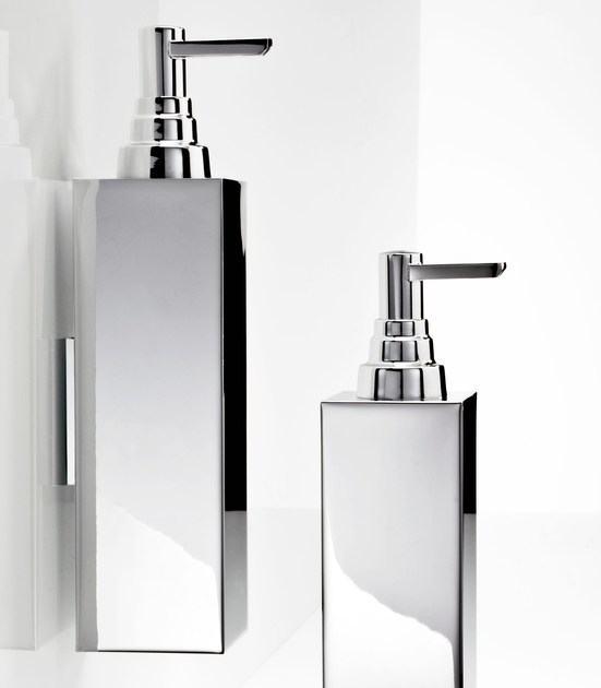 Wall-mounted chrome plated liquid soap dispenser DW 350 by DECOR WALTHER